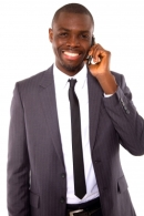 Businesman with mobile free image courtesy of FreeDigitalPhotos.net